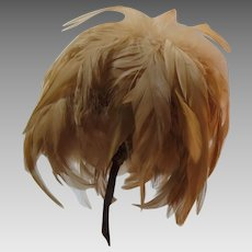 Edwardian Coque Corsage Hat Trim Feather Accessory