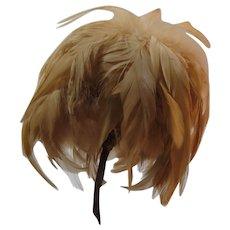 Edwardian Coque Corsage Hat Trim Feather Accessory