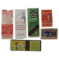 Baseball and Golf Related Advertising Matchbook Covers