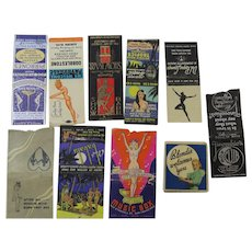 Matchbook Covers Advertising Bar Club Lounge Nite Club Floor Show