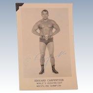 Publicity Snapshot Edouard Carpentier World's Heavyweight Wrestling Champion Signed