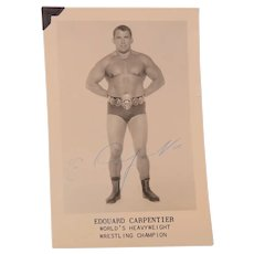 Publicity Snapshot Edouard Carpentier World's Heavyweight Wrestling Champion Signed
