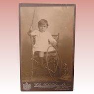 Carte De Visite Sweet Little Boy With His Toys Hans Zirndorf 1905