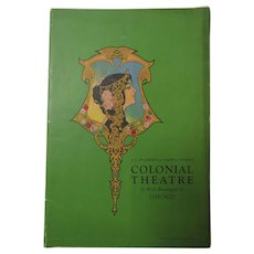 1920s Program Play Bill Ziegfeld Follies Colonial Theatre Chicago