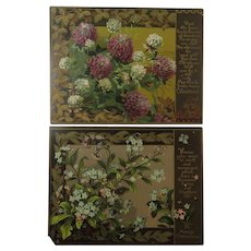 Two Early Prang Greeting Cards for Christmas