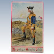 George Washingtons Birthday Post Card 1910