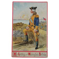 George Washington's Birthday Post Card 1910