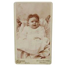 Carte De Visite Small Grinning Little Girl Circa 1880s