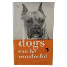 Armour Dog Food Advertising Booklet Dogs Can Be Wonderful