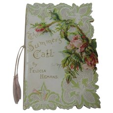 Edwardian Victorian Era Tuck's Greeting Card With Poem by Felicia Hemans