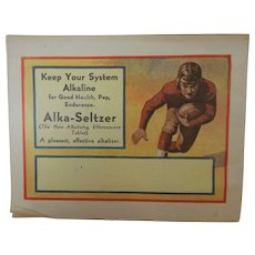 Alka-Seltzer Vintage Advertising Booklet in Color