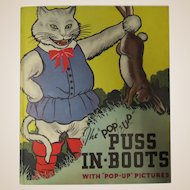 Puss In Boots Pop-Up 1st Edition 1934