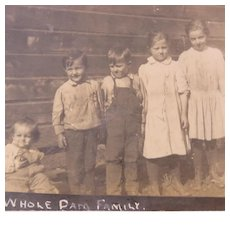 "The ""Whole Dam Family"" is the Note on This RPPC"