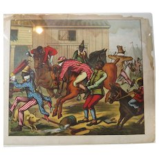 The Camptown Races Black Americana Illustration 19th cen