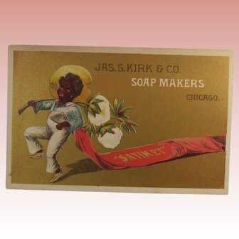 Trade Card Chicago Soap Makers Black Interest