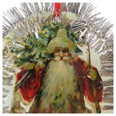 Tinsel and Ephemera Victorian Era Christmas Ornament