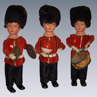 Antique German Wind Up Dolls with Instruments All Original