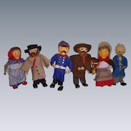 Vintage Lot of 6 German Berliner Dolls