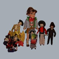 Vintage Boy Dolls Lot of 7