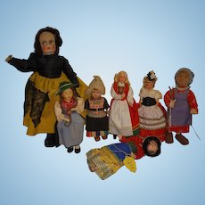 Vintage Ethnic Dolls Lot of 7