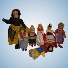 Vintage Ethnic Dolls Lot of 7