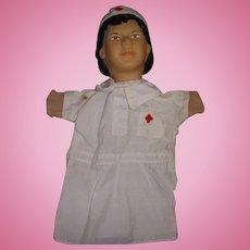 Vintage Nurse Hand Puppet!