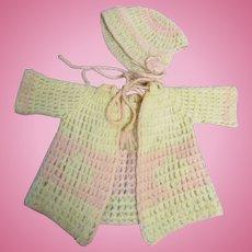 Vintage Occupied Japan Baby Sweater Set