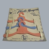 Vintage Dolly's Plastic Hangers MIP