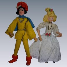 Vintage German BAPS Cinderella and Prince Charming Set