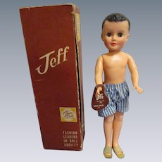 """1950s Vogue """"Jeff"""" Doll in Original Box with Tag"""