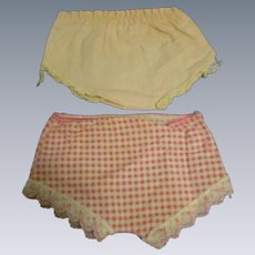 Original Tiny Tears Doll Panties-Lot of 2