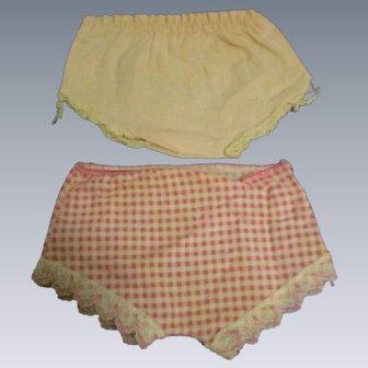 Original Tiny Tears Doll Panties-Lot of 2