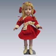 """Vintage 1950s Arranbee 18"""" Nanette Ice Skater Doll All Original"""