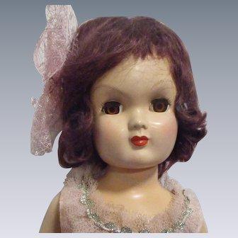 "Vintage 1950s Eugenia 18"" Sandra Doll HTF"