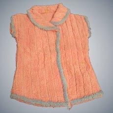 Vintage Chenille Baby Doll Robe