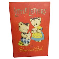 """Vintage Child's """"Little Letters for Boys and Girls"""" by Whitman Co."""