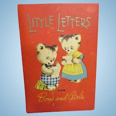 "Vintage Child's ""Little Letters for Boys and Girls"" by Whitman Co."