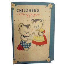 """Vintage """"Children's Writing Paper"""" by Whitman Co."""