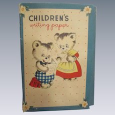 "Vintage ""Children's Writing Paper"" by Whitman Co."