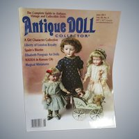 Antique Doll Collector Magazine June 2016 Issue