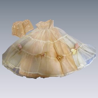 Vintage 1950's Doll Strapless Gown & Panties
