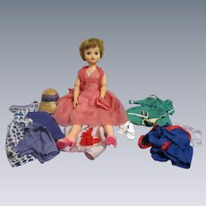 Vintage 1960s Deluxe Reading Candy Fashion Doll with Original Wardrobe