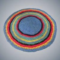 Vintage Round Braided Rug