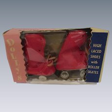 Vintage 1950s Doll Roller Skates in Original Box