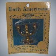 Vintage Doll House Miniature Candelabra MIP