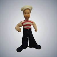 "Vintage Rare Erna Meyer ""Popeye the Sailor Man"" Dollhouse Doll"