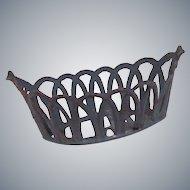 Vintage Soft Metal Blue Basket