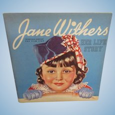 "Vintage 1936 Original Jane Withers Book ""Jane Withers Her Life Story"""