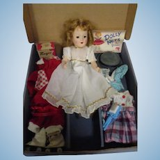Vintage 1950s Boxed Hard Plastic Doll Wardrobe Set