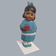 German All Bisque Nodder Indian Girl